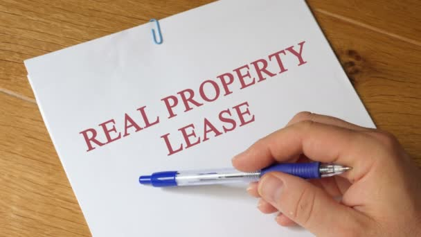 Real Property Lease Concept