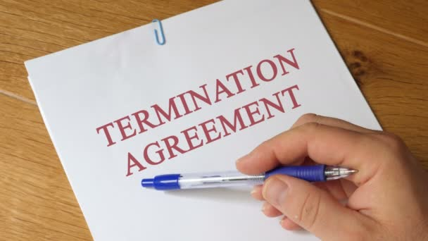Termination agreement Agreement Concept