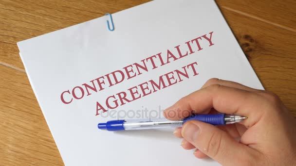 Review of Confidentiality Agreement Concept