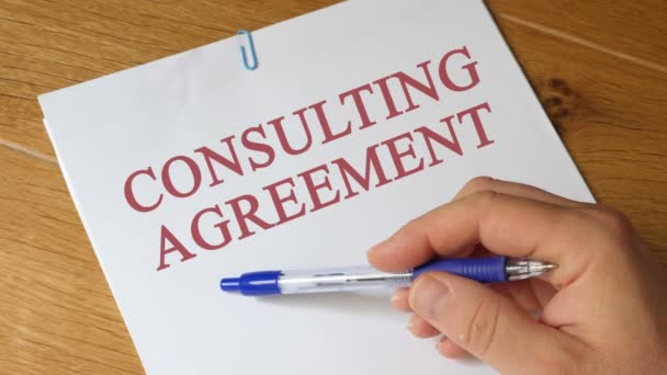 Review of Consulting Agreement Agreement Concept