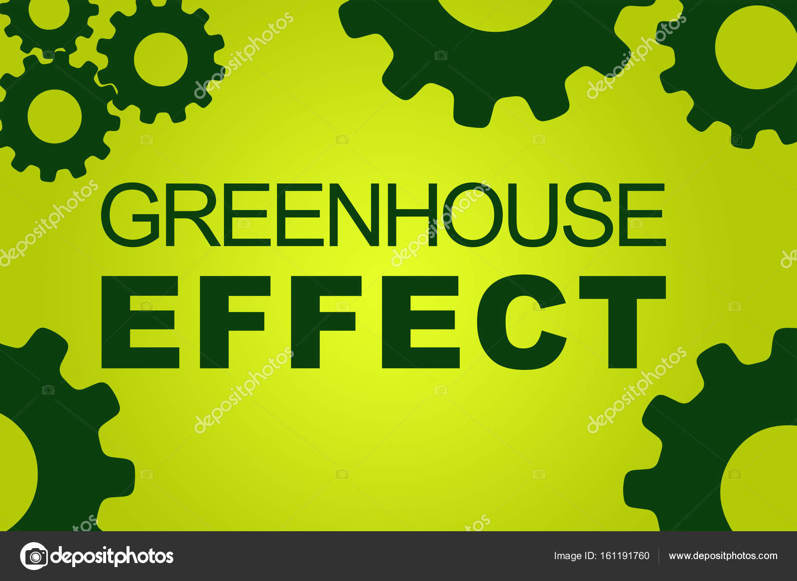 greenhouse effect concept stock photo