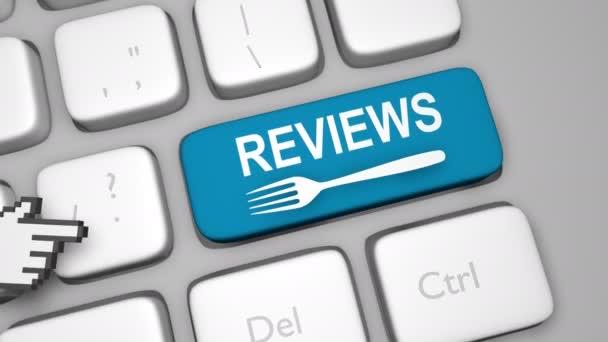 Reviews keyboard key animation