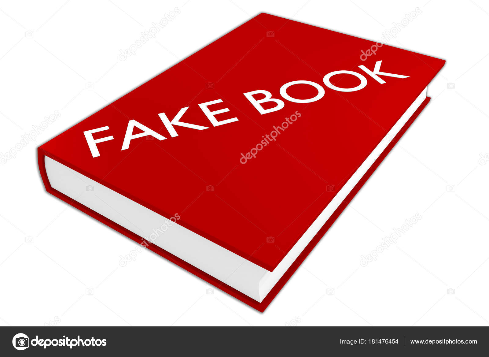illustration fake book script book isolated white stock photo