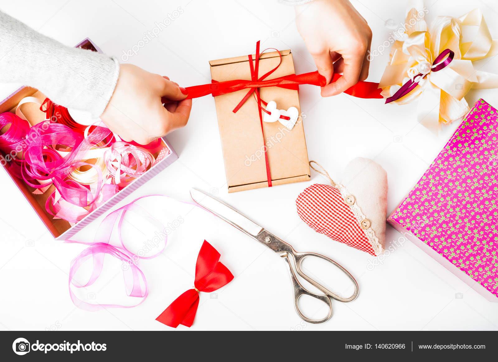 Imballaggio Di San Valentino Festa Della Mamma O Regalo Di