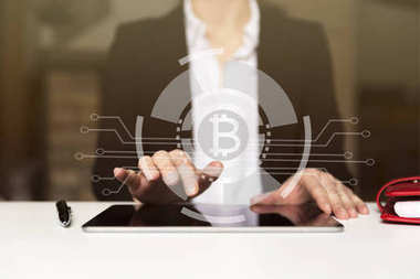 Cryptocurrency graph on virtual screen. Business, Finance and te