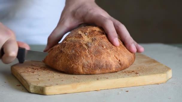 Séf pék szeletek friss olasz kenyér