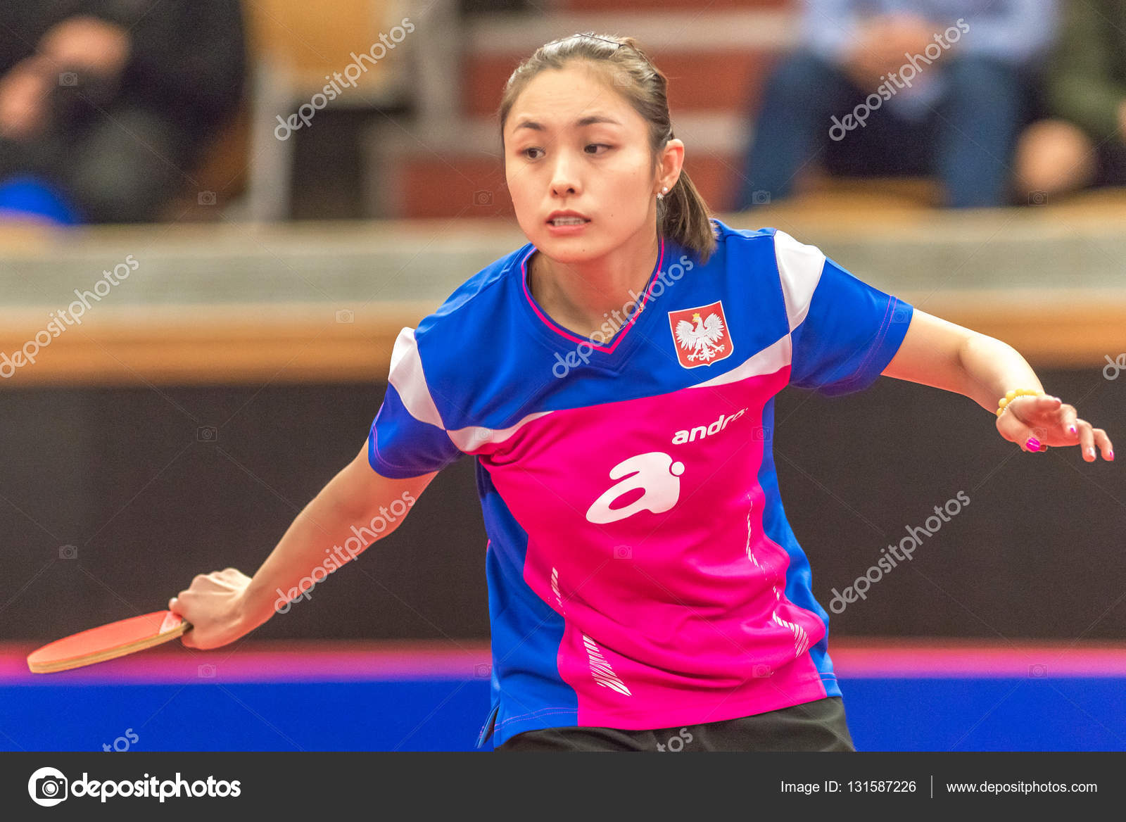 Kasumi Ishikawa Jpn Vs Qian Li Pol In The Table Tennis