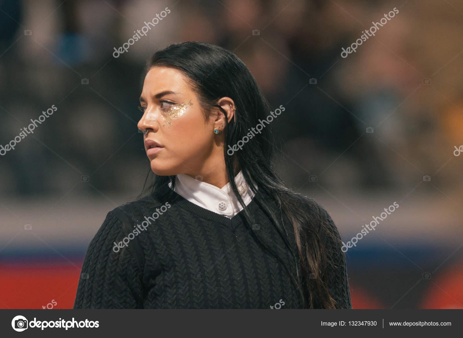 Maxida Marak At The Celebrity Jumping In The Sweden Internationa Stock Photo