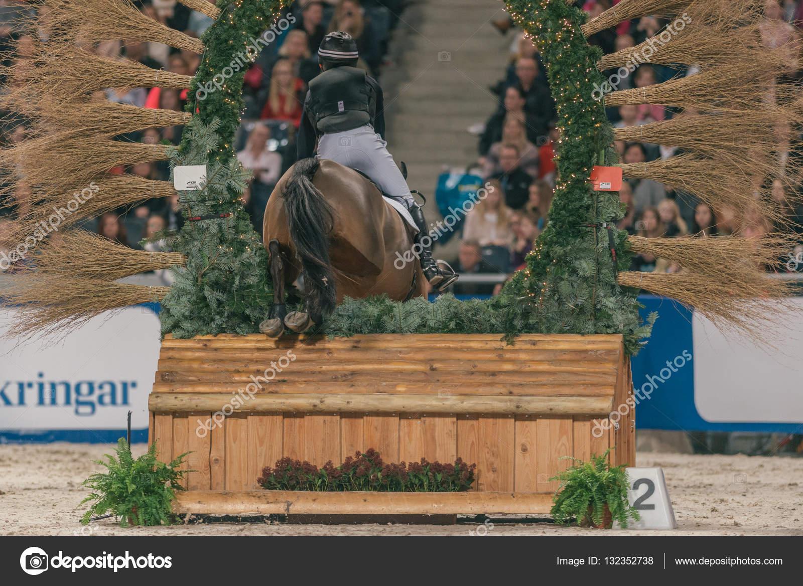 Indoor Cross Country event in the Sweden International Horse