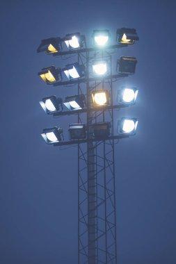 Floodlights at th bandy game between Hammarby and Bollnas