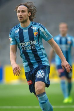 Kevin Walker at the match between Djurgarden IF and IFK Goteborg