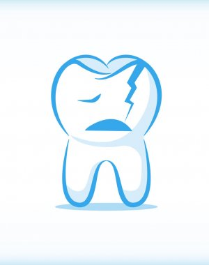 Vector Cracked Tooth Character