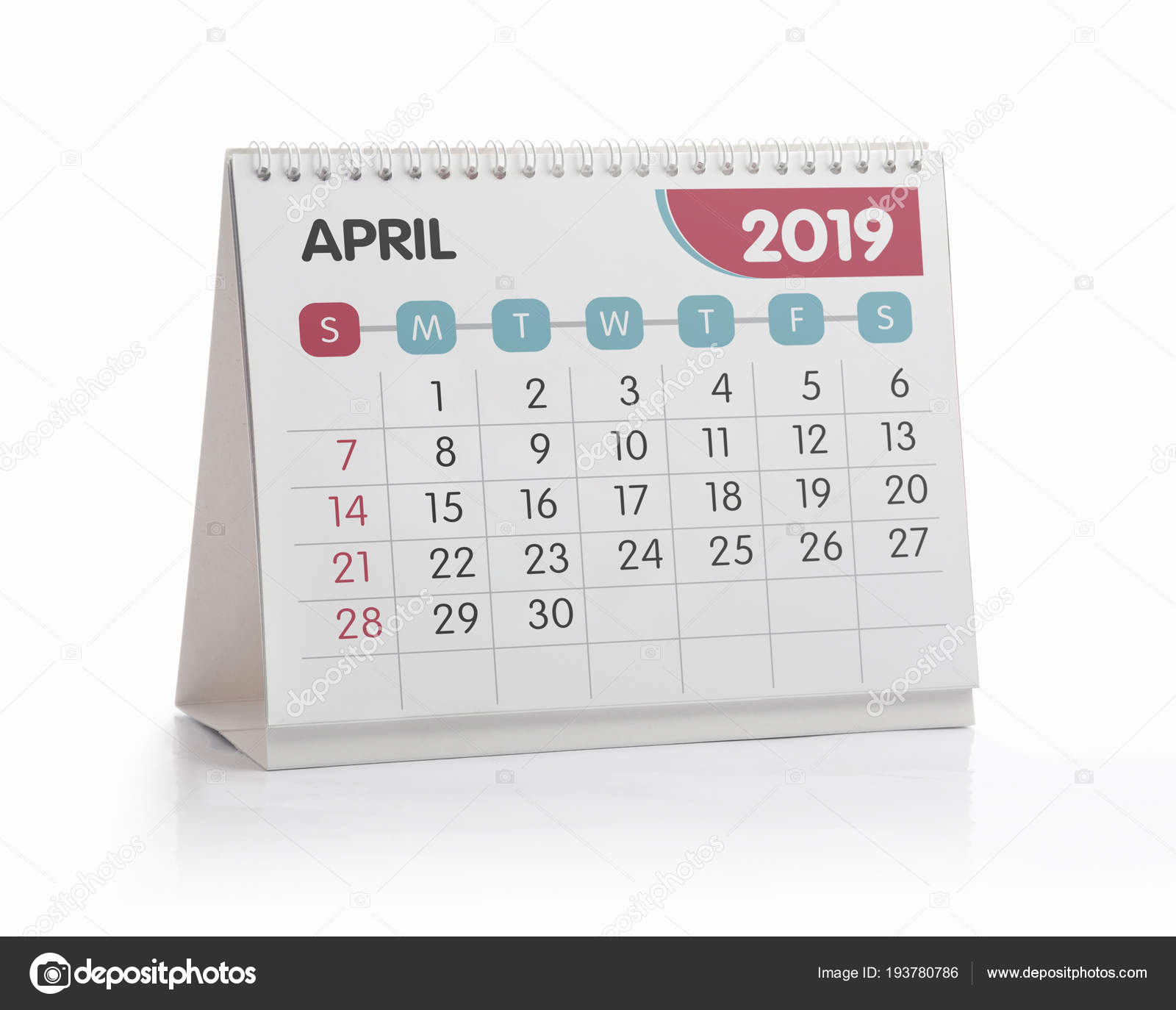 Office Kalender 2019 April Stockfoto C Midosemsem 193780786