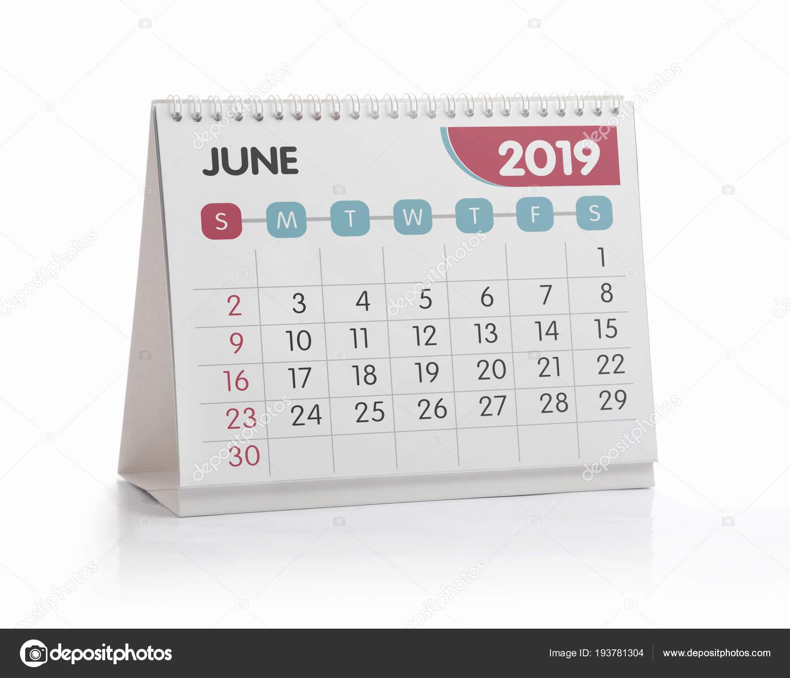 Junio Calendario 2019.Oficina Calendario 2019 Junio Fotos De Stock C Midosemsem 193781304