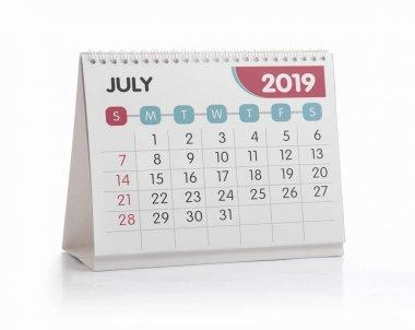 Office Calendar 2019 July
