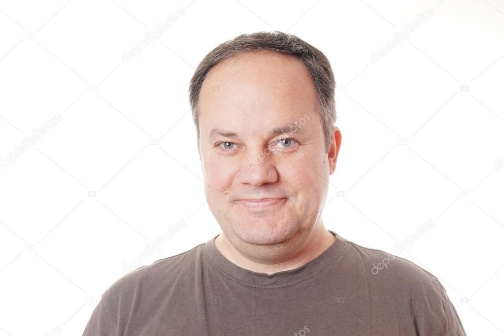 Homme Souriant homme souriant dans la quarantaine — photographie buecax © #129665852