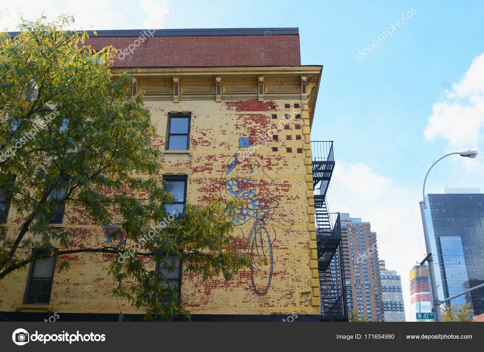 Pintado de la pared del edificio de Kiehl\'s en la cocina del ...