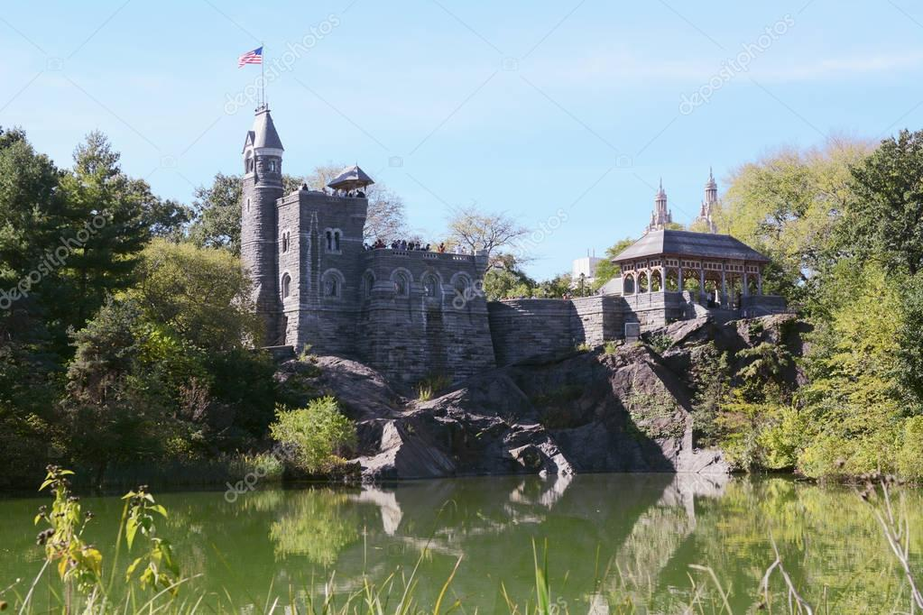 Belvedere Castle in Central Park, overlooking Turtle Pond