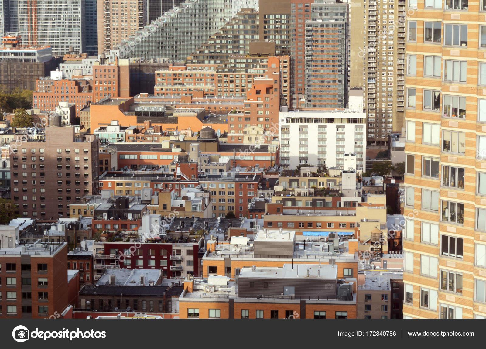 Paisaje urbano en la cocina del infierno, Manhattan, Nueva York ...