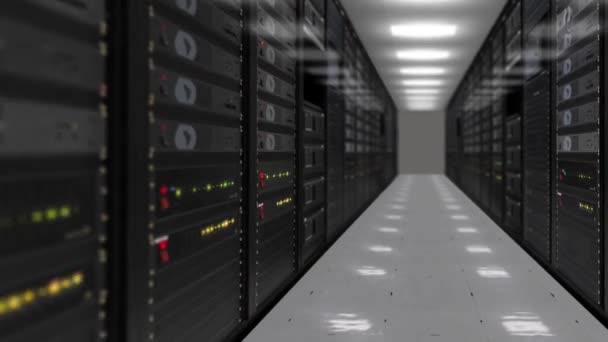 Animation von Rack-Servern im Rechenzentrum HD Stock Video