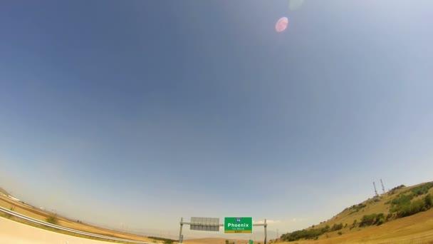 Phoenix City, Arizona autópálya- és kilépési jele vezetés