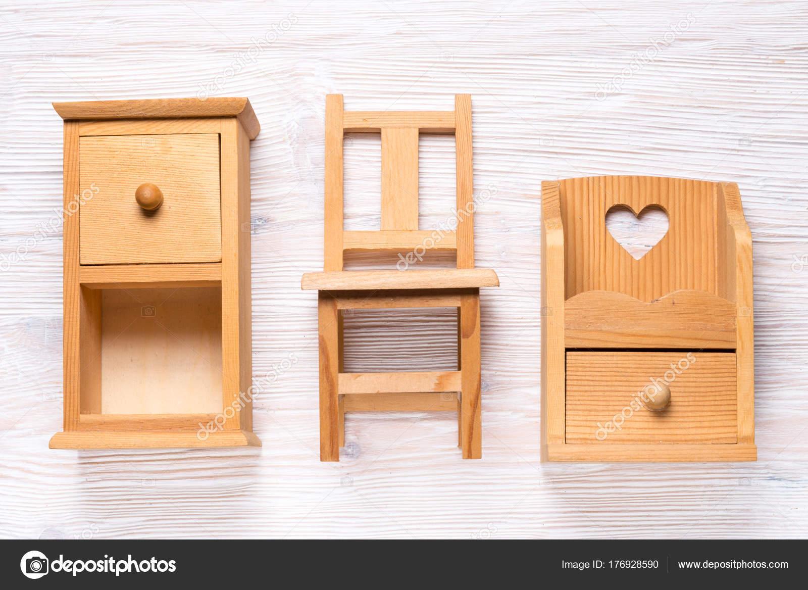 Meubles Miniatures En Bois Jouet Modèle Photographie Yumis