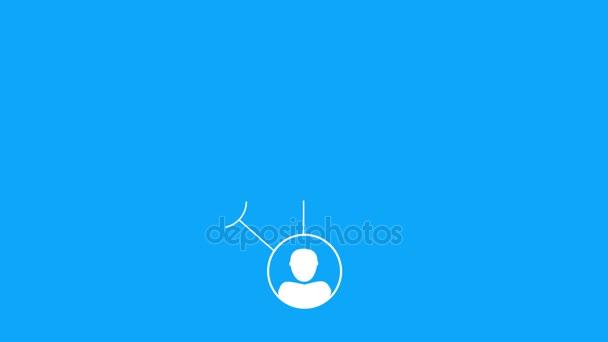 Animovaný sociální média řetěz