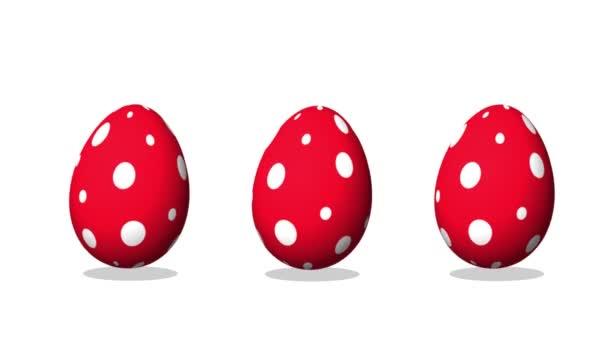 Šťastné Velikonoce pozdrav animace, tančící vejce