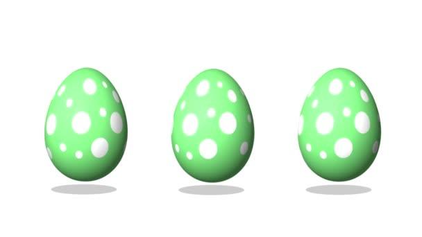 Boldog húsvéti üdvözlő animáció, tánc tojás