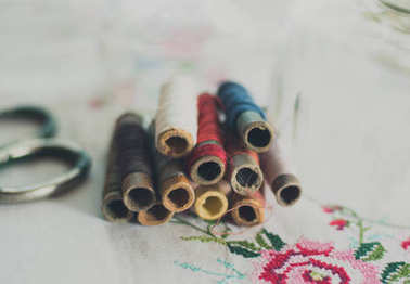 Set of vintage sewing threads