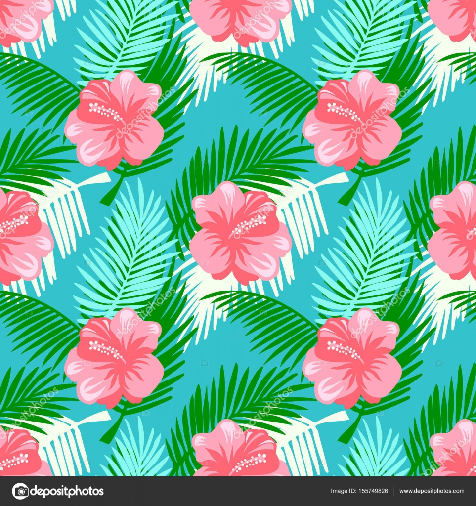 Tropical Floral Background Stock Vector 155749826