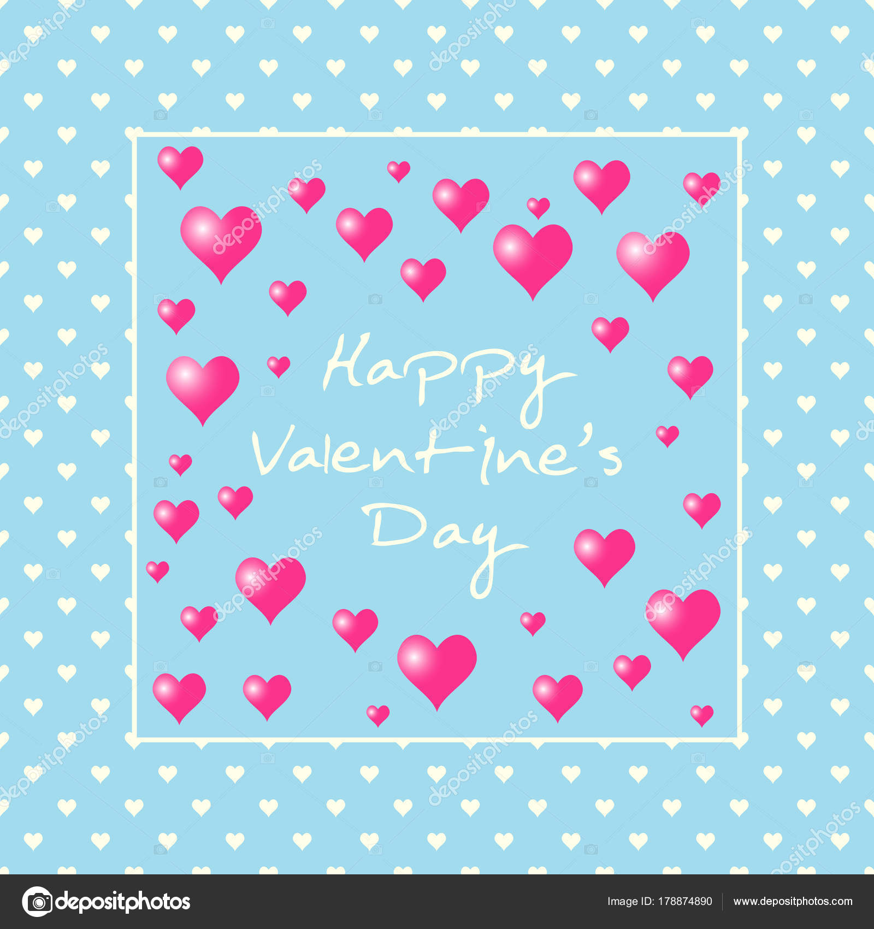 Valentinstag Liebe Hintergrund Romantische Rosa Herz Spruche
