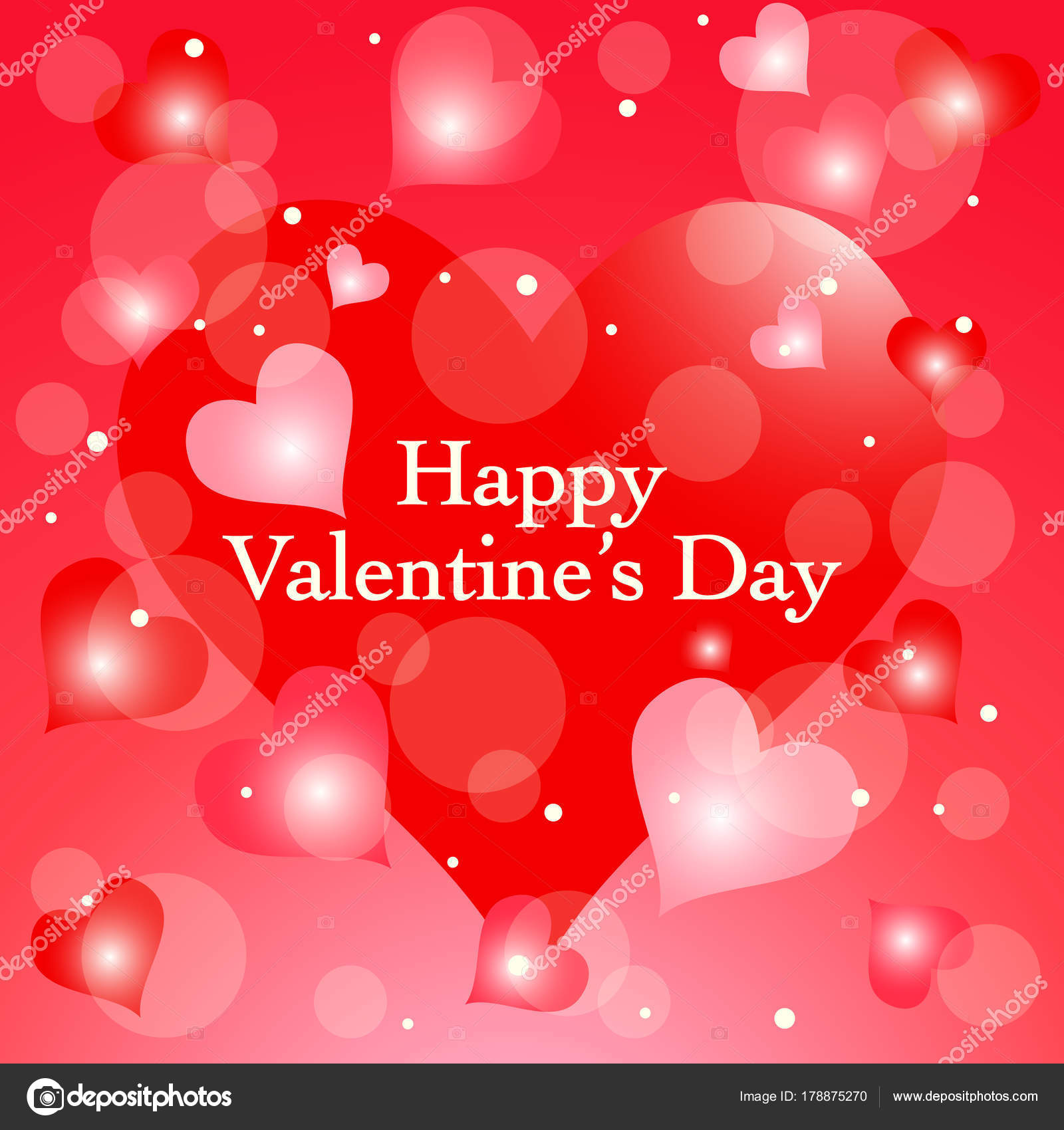 Valentines Day Love Background Romantic Red Heart Background Stock