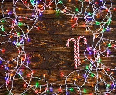 Ornament from an electric garland