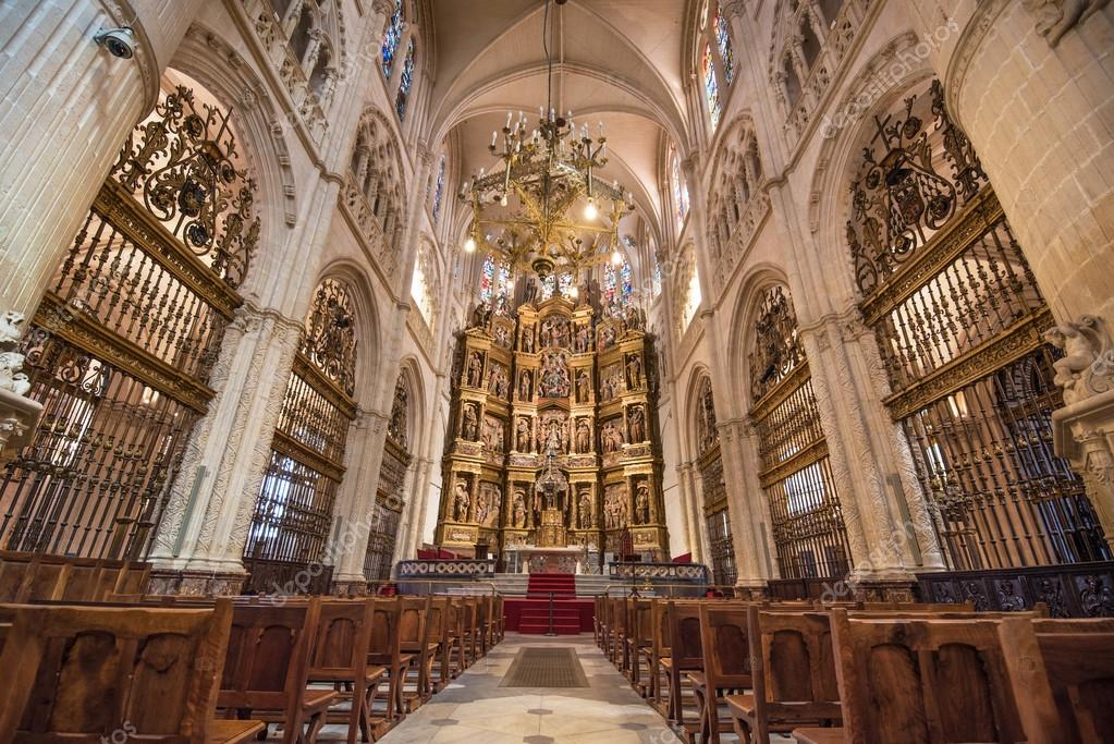 Burgos Cathedral interior – Stock Editorial Photo ...  Burgos Cathedra...