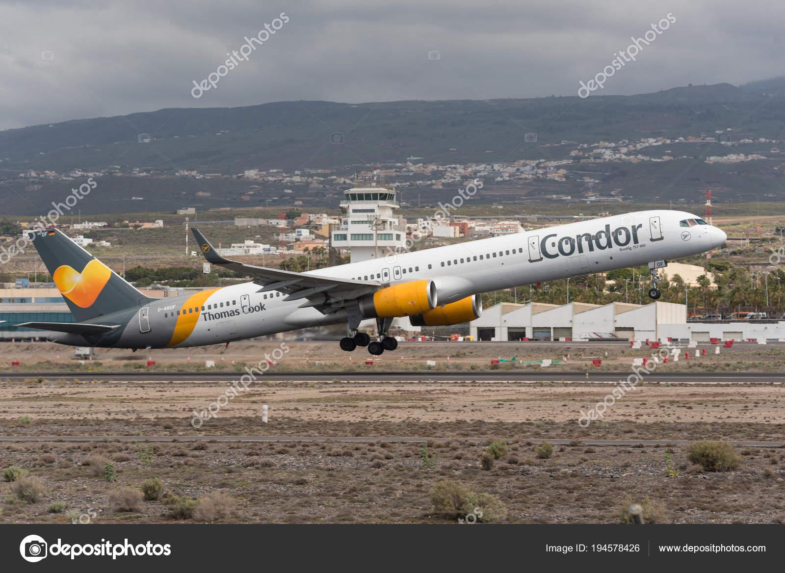 Aeroporto Tenerife Sud : Tenerife spagna 29 aprile 2018: thomas cook condor boeing 757 300