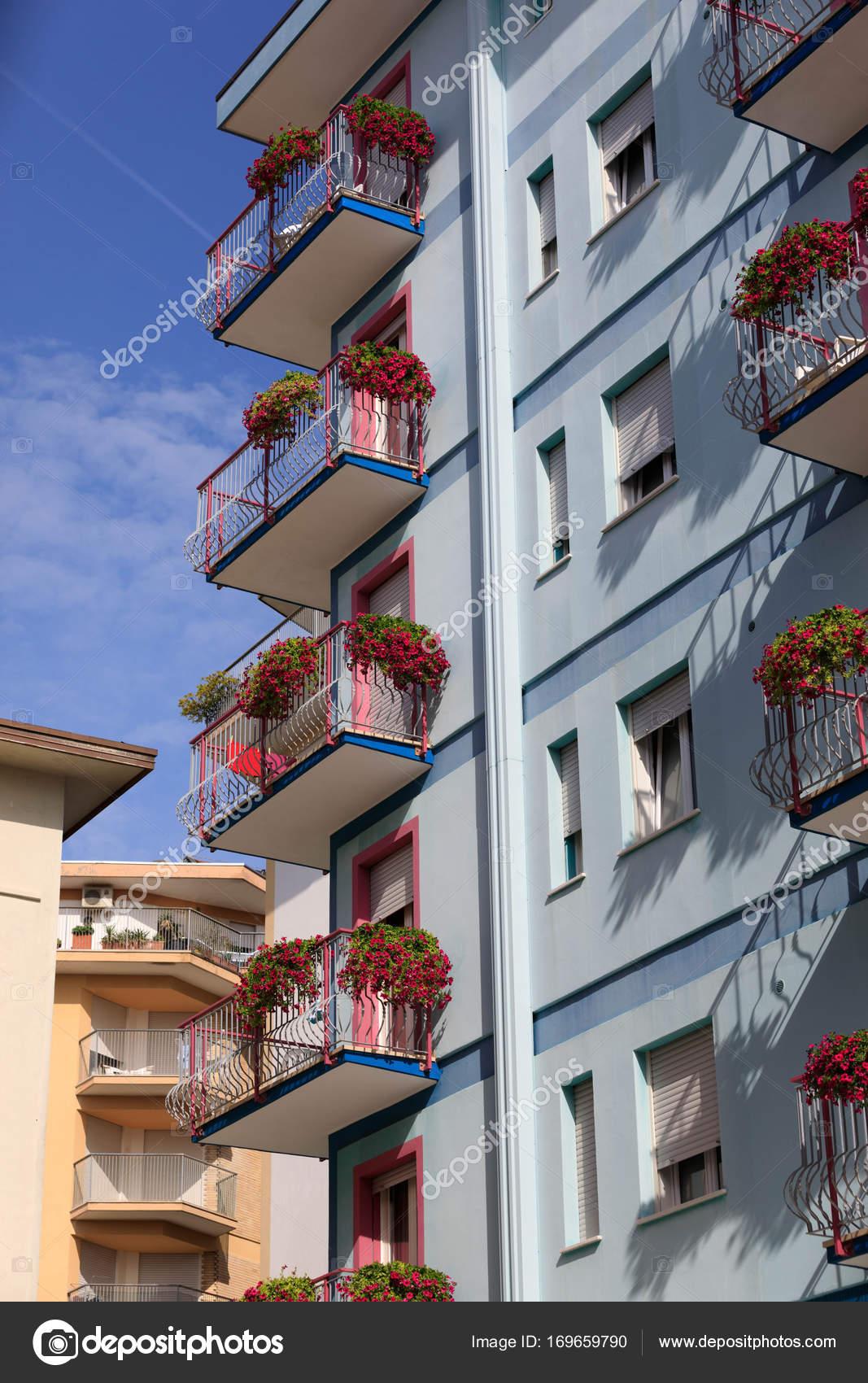 Schones Hotel In Der Stadt Jesolo In Italien Stockfoto