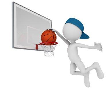 man playing in basketball
