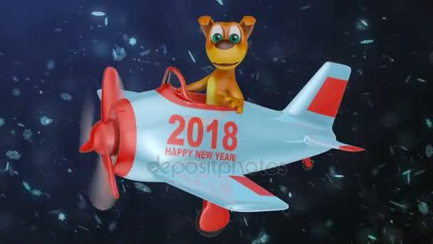pes v rovině šťastný nový rok 2018