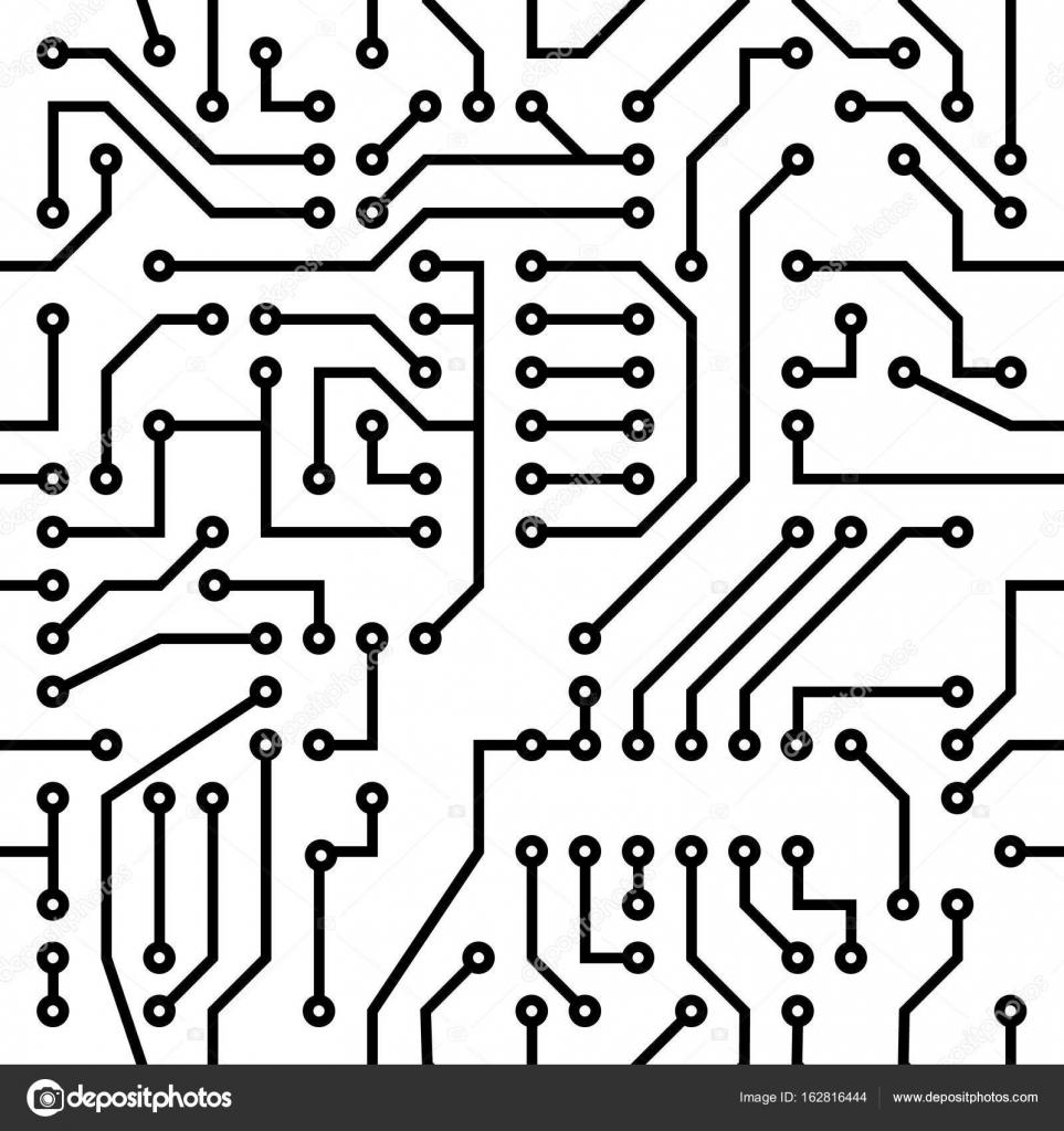 placa de circuito impresso  u2014 vetor de stock  u00a9 rommma  162816444