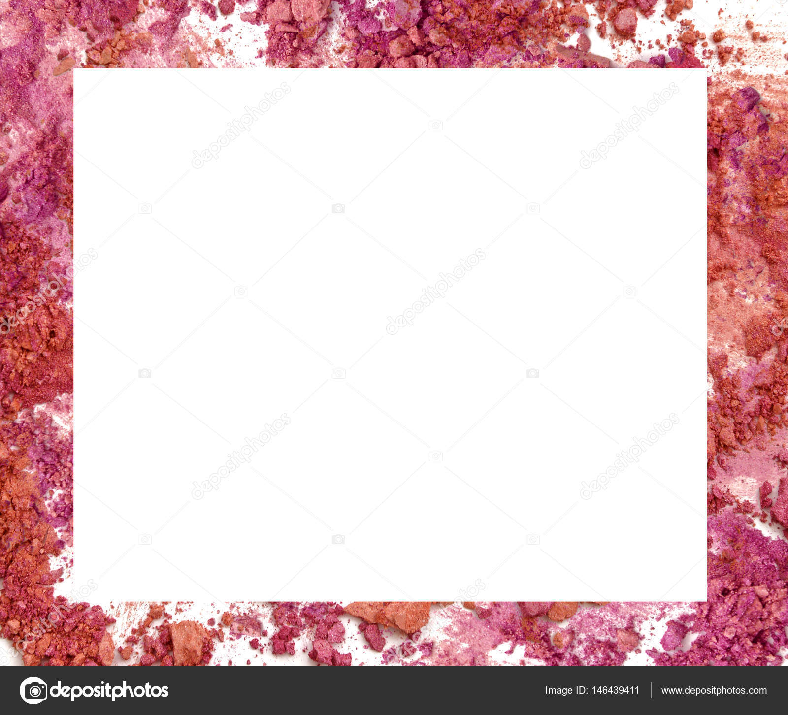 Make-up Farbe Rahmen auf weißem Hintergrund — Stockfoto ...