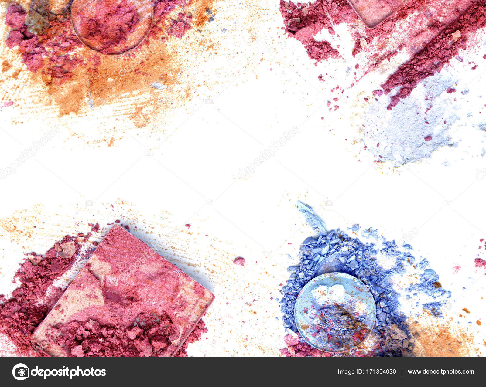 Marco maquillaje color maquillaje sombra de ojos — Foto de stock ...