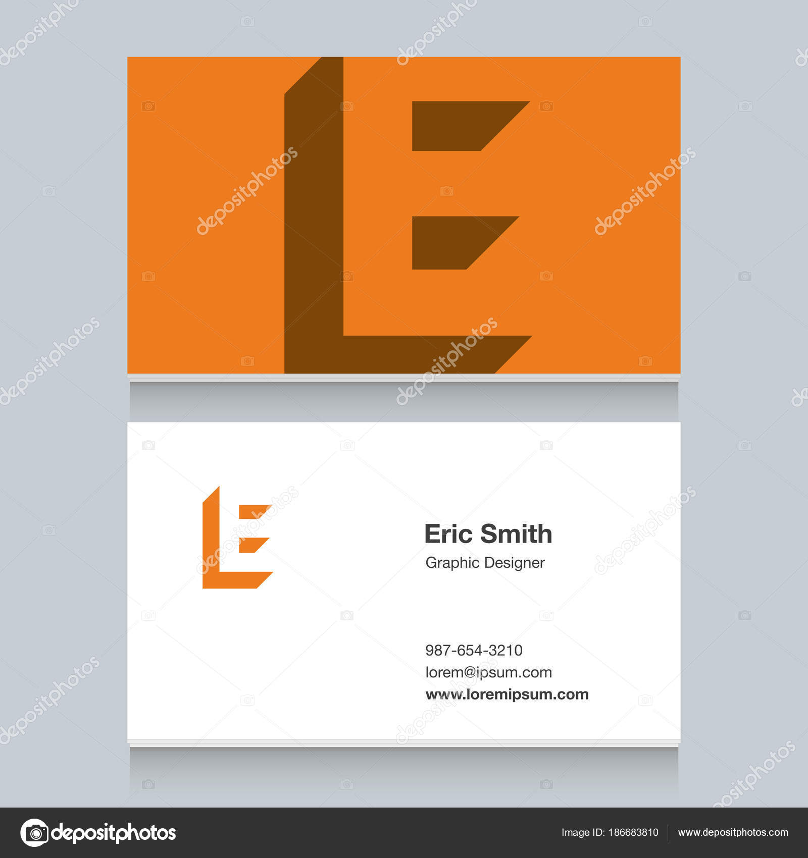 Logo alphabet letter business card template vector graphic design logo alphabet letter e with business card template vector graphic design elements for company logo vector by thecorner spiritdancerdesigns Choice Image