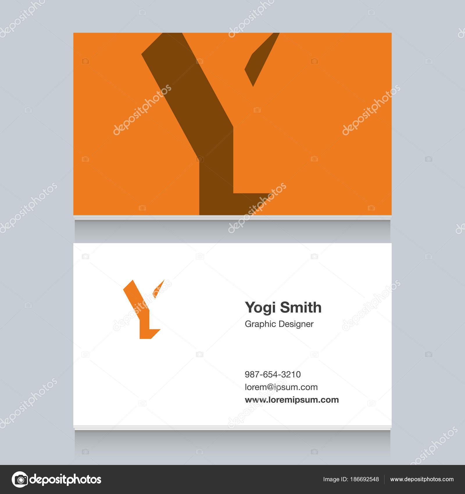 Lettre Dalphabet Logo Y Avec Le Modele De Carte Visite Elements Graphisme Vectoriel Pour Lentreprise Vecteur Par