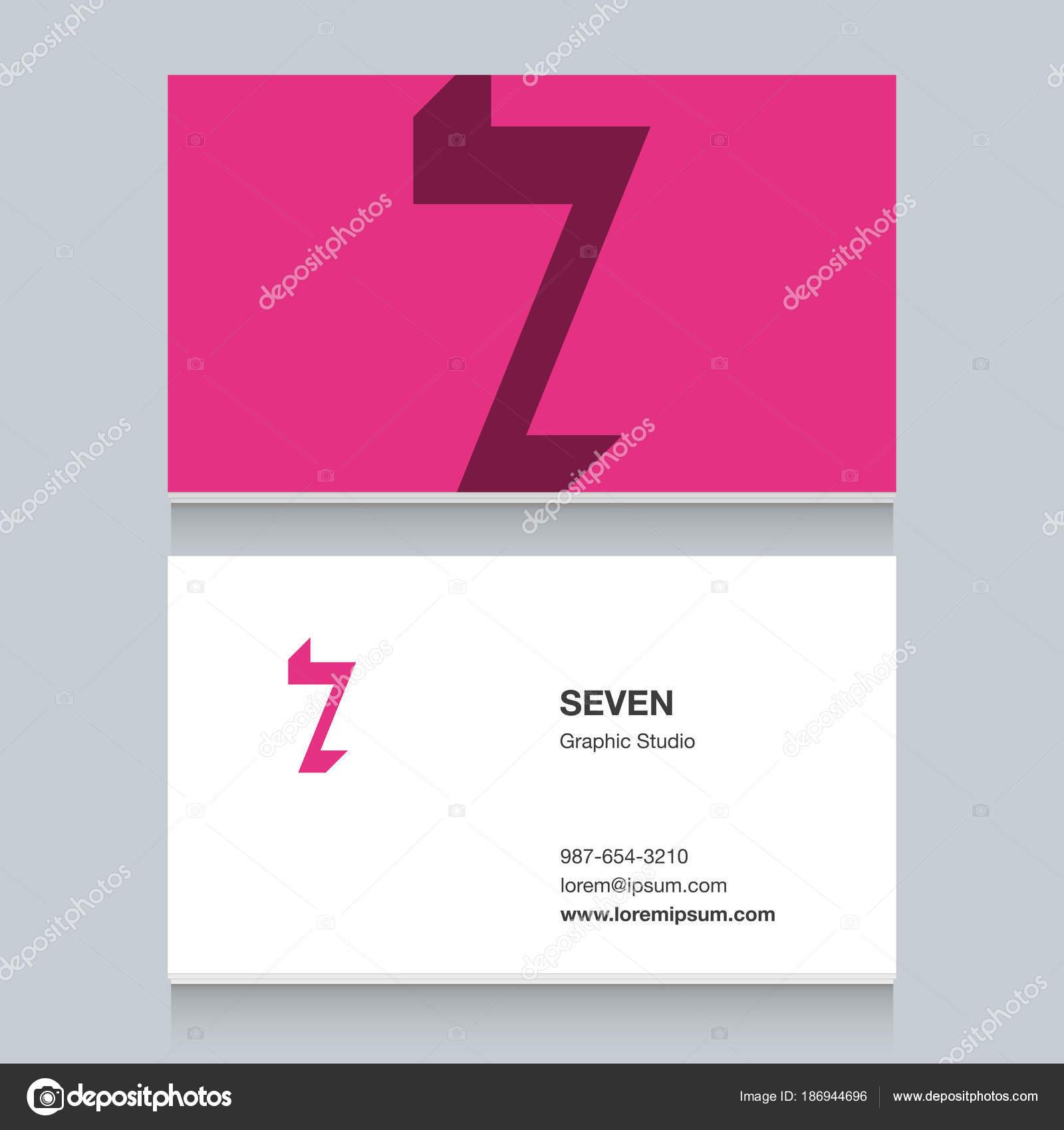 Nombre De Logo 7 Avec Le Modle Carte Visite Lments Graphisme Vectoriel Pour Lentreprise Vecteur Par Thecorner