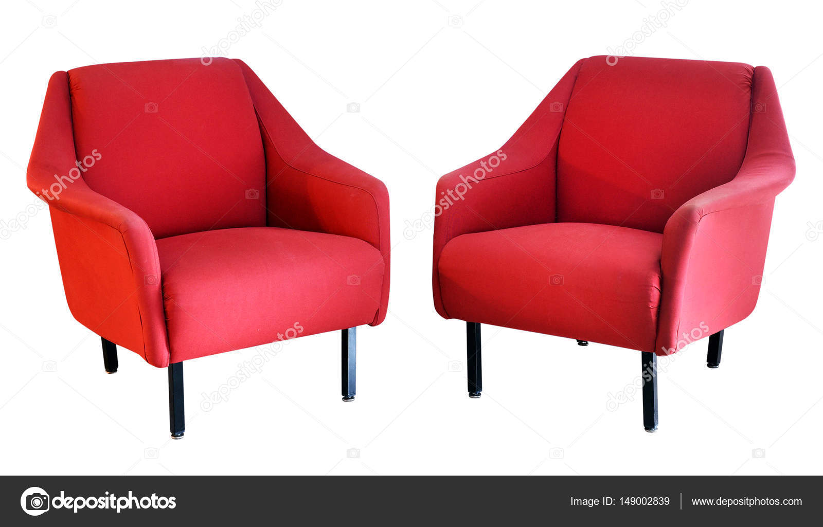 Twee Rode Fauteuils.Twee Rode Fauteuils Op Wit Stockfoto C Photology1971 149002839