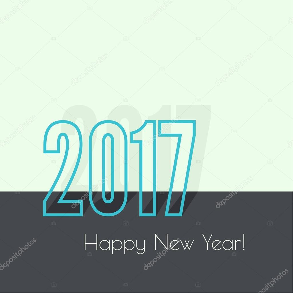 2017-frohes neues Jahr — Stockvektor © sumkinn #130522390