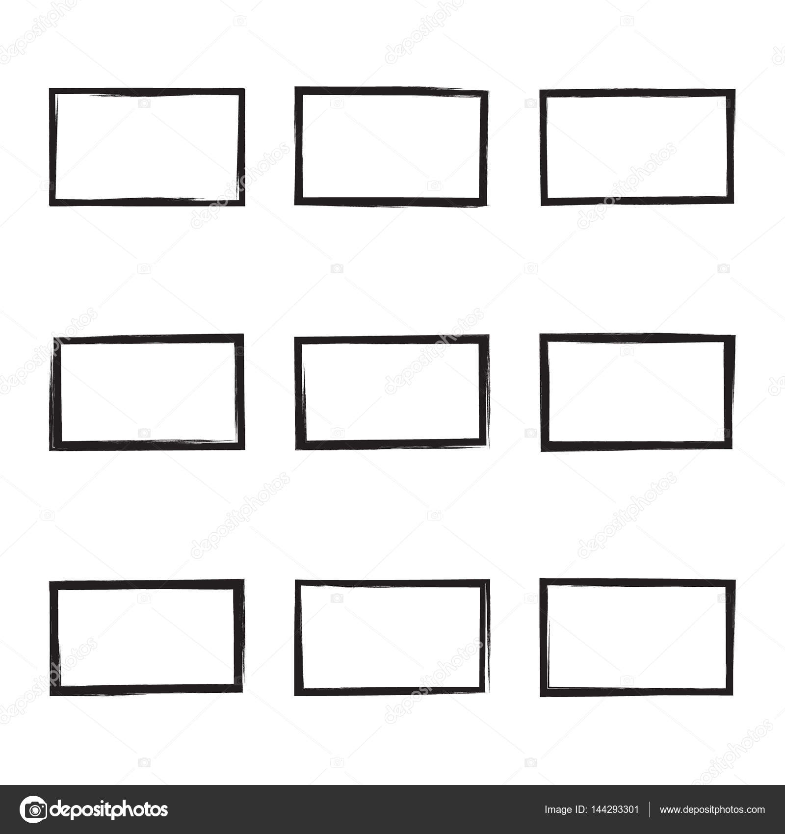 set hand drawn square stock vector sumkinn 144293301