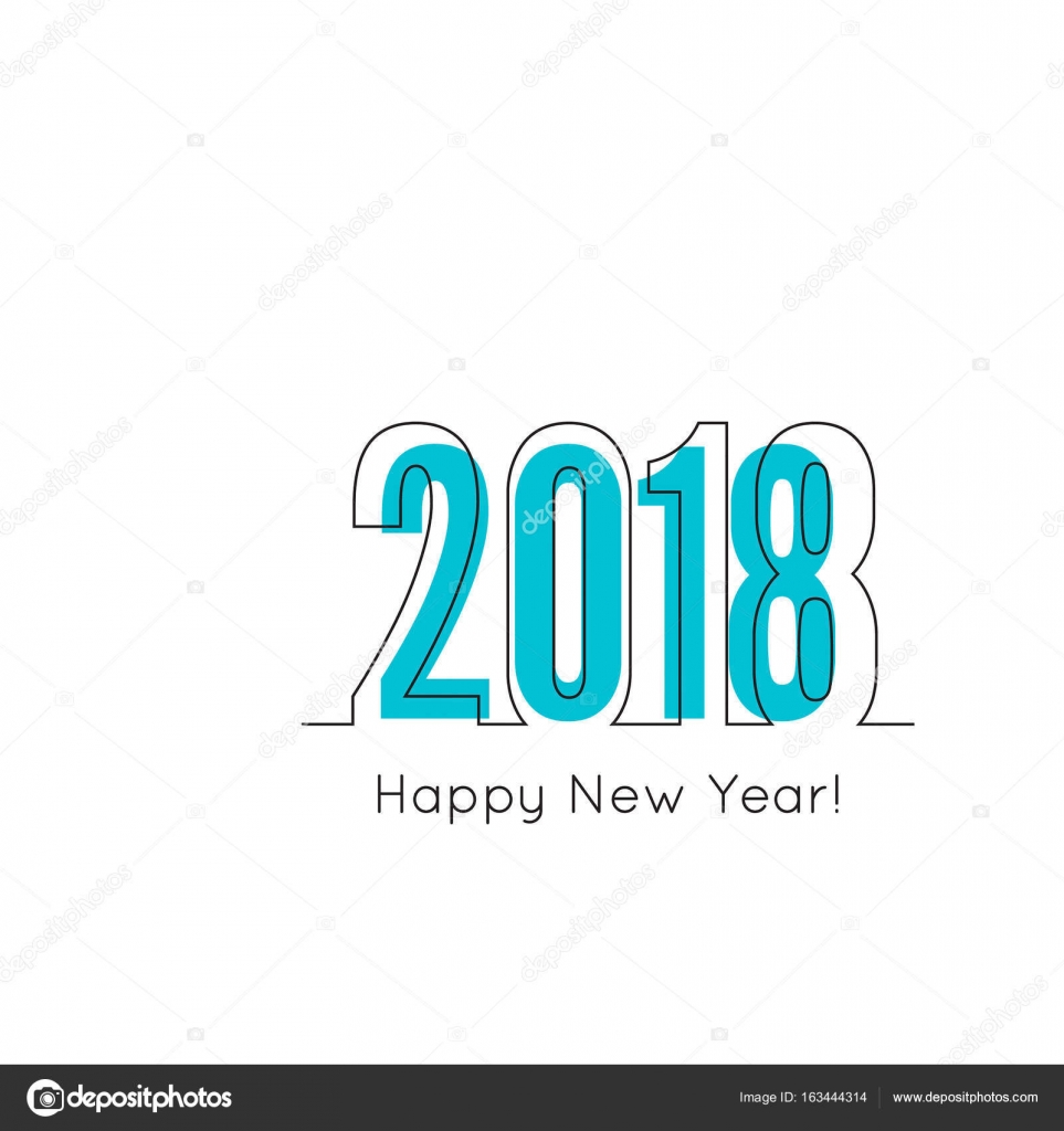 2018-frohes neues Jahr-Hintergrund — Stockvektor © sumkinn #163444314