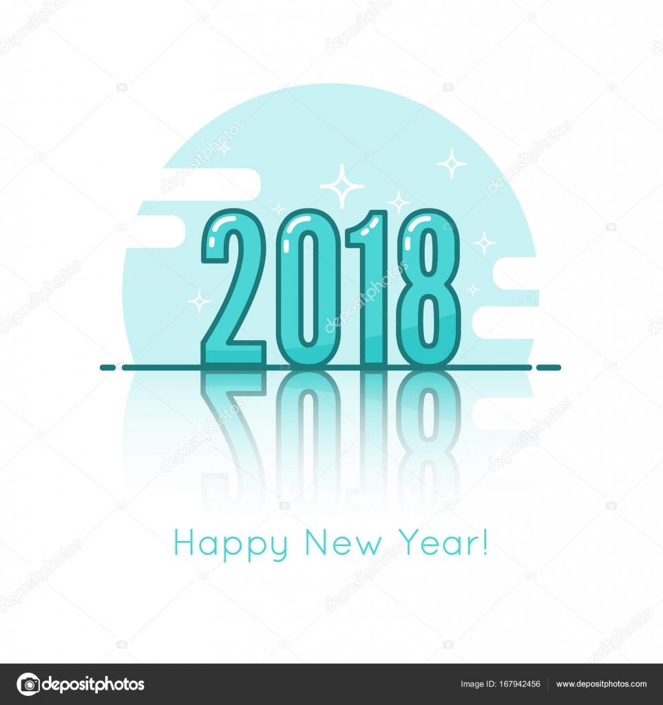 2018-frohes neues Jahr-Hintergrund — Stockvektor © sumkinn #167942456